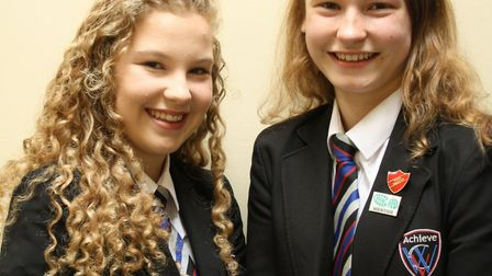 Two 'head' students – Abigail Wells and Scarlett Ambrose - appointed at Witchford Village College