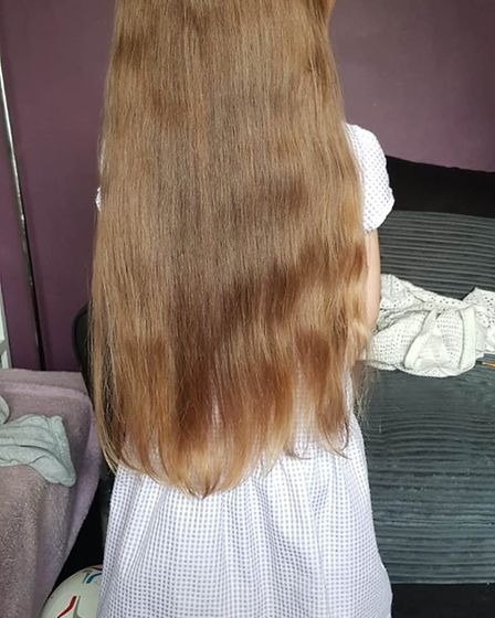 Daisy Hunter-Williams, from East Cambridgeshire, has been growing her hair for the last year