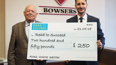 Big-hearted businesses in Wisbech have been donating generously to the Read to Succeed campaign