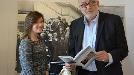 Mayor of Ely Mike Rouse with organiser Xenia Niemic at the museum