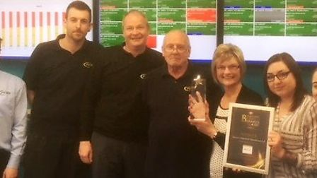 The Precise Component Manufacture Limited team with their 2017 Fenland Business Awards business of t