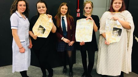 Year 11 pupils at Helena Romanes taking part in the school's drama performances.