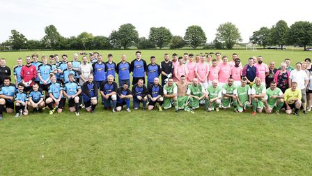 Charity football match raised more than 500 in memory of former Wisbech Town goalkeeper Mark Ovendal