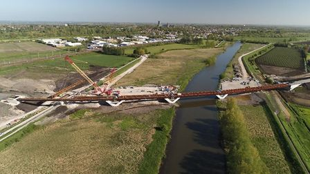 Latest aerial shot provided by Cambridgeshire County Council of work on Ely bypass
