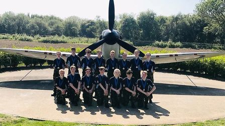 Ely air cadets took part in the RAF Walking and Road Marching Association Spitfire March: