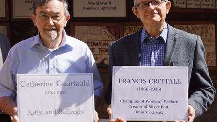 Ian Hume, chairman of the Braintree and Bocking Local history Society (left) and secretary Andrew Be