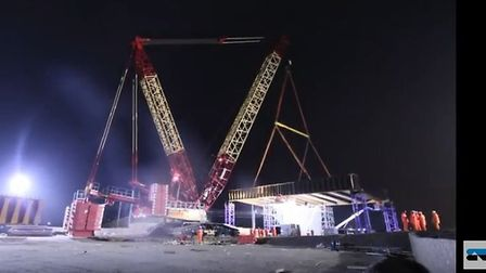 """VolkerFitzpatrick have released a time-lapse video of the Ely bypass rail bridge installation. """"Fant"""