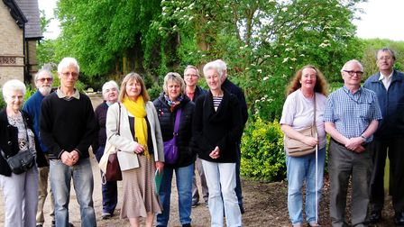 Members of The March Society on their walk in Wimblington