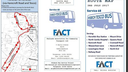 Details of new Tesco bus service in Wisbech