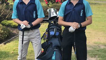 Ben Collier, left, and Paul Collington, right, who competed at the ISGA Junior Stableford at Sunning