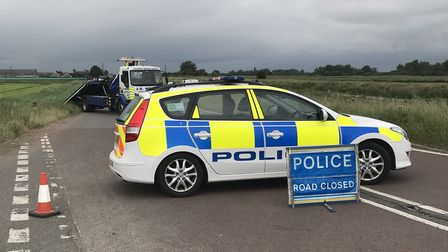 Fenland police attended the scene of two-vehicle crash on Sixteen Foot Bank this morning (June 12).