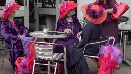 Photographer Andy Murfitt was outside the front of Ely Cathedral when the Red Hatters asked him to t