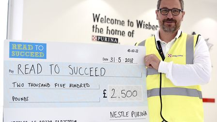 Read to Succeed donation by Nestle Andrea Sutti