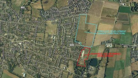 Up to 169 homes to be built in Whittlesey on the former Eastfield Nursery site.