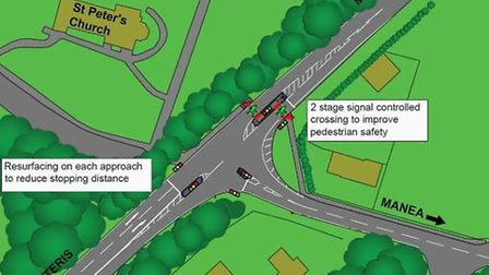 Traffic signals are to be installed at the junction of Manea Road B1093 and the A141 Isle of Ely Way