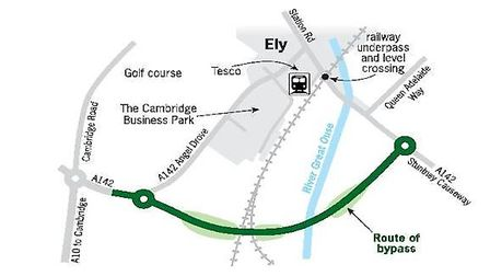Route of Ely bypass