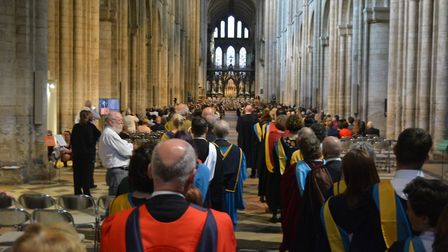 The Open University East of England graduation ceremony held at Ely Cathedral last Saturday (June 2)