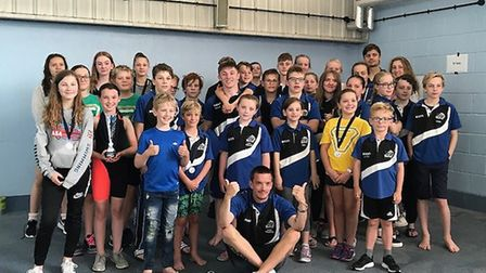 March Marlins members pose for a photo after hosting their annual Fenland Open Meet in Whittlesey. P