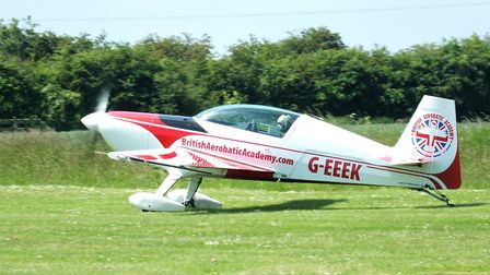 Extra 200, G-EEEK, flown by Sharon Wang. Picture(s): Alastair Goodrum
