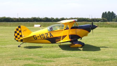 Pitts S-2A, G-ISZA, flown by Trevor Dugan, winner of the McAully Trophy. Picture(s): Alastair Goodru
