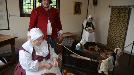 Oliver Cromwell's house in Ely came to life on Saturday (June 9) as the home went back to the 17th c