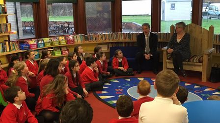 Secretary of State for Education Damian Hinds chose DEMAT'S St Andrew's as his first school to visit