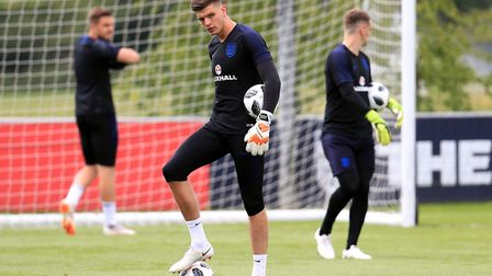 Nick Pope training with England ahead of the World Cup. Picture: MIKE EGERTON/PA WIRE/PA IMAGES