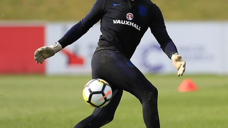 Nick Pope training ahead of the World Cup. Picture: MIKE EGERTON/PA WIRE/PA IMAGES