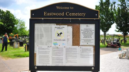 The clear-up commences at Eastwood Cemetery in March as the overgrown grass gets cut. Photo(s): HARR