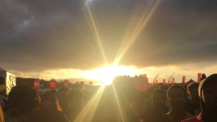 Sunset over Strawberries and Creem Festival 2018. PHOTO: Clare Butler.