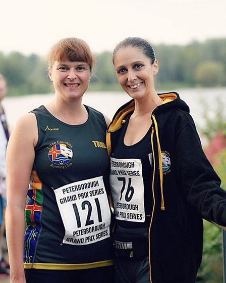 Trudy Sayell and Dawn Ball of Three Counties Running Club