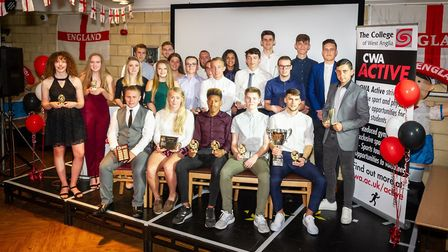 A group shot of all the award winners from the event.