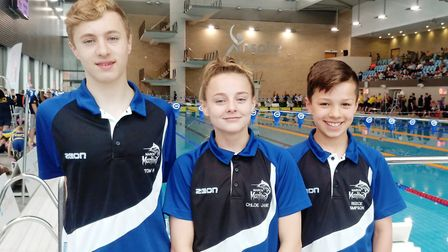 Tom Hanley, Chloe Cook and Reece Simpson from March Marlins