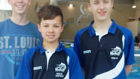 Jacob Cowin, Reece Simpson and Tom Hanley from March Marlins