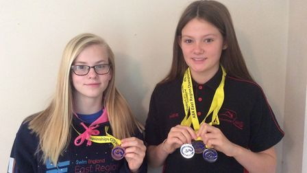 Maeve Pooley and Ciara Taylor who are both year 8 students at Soham Village College.