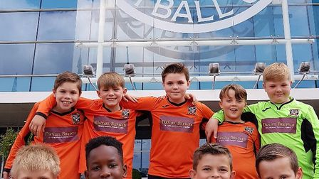The under Dunmow United Stingray team had the chance to feel like football superstars at Leceister C