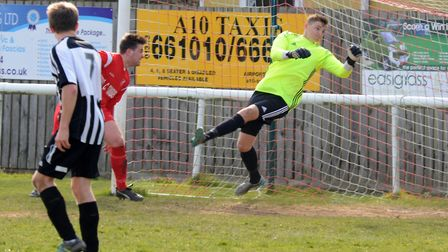 Ely City goalkeeper Harry Reynolds is set to join higher-level St Neots Town. Picture: ROB MORRIS