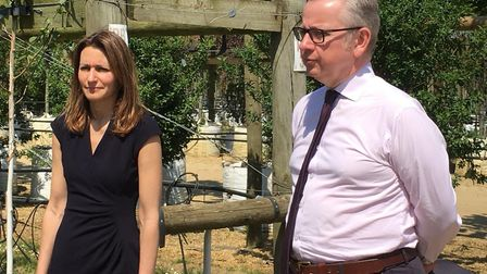 Environment Secretary Michael Gove visited Ely-based Barcham Trees ahead of launching the government