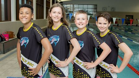 Cirty of Ely swimmers In Luton where the clubs younger swimmers (pictured) swam competitively, all h