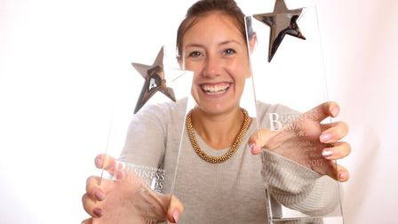 Natasha Shiels from The Fens Magazine won Business Person of the Year and New Business of the Year a