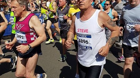 Steve Arlington laced up his running boots after quitting smoking
