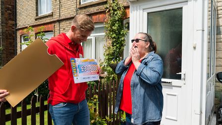 Mandy Nicholls shocked to discover how much she'd won - Eight Norwood Road residents each won 30,000