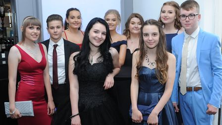 Glitz and glam at the Neale Wade Academy prom. PHOTO: ROB MORRIS