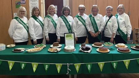 Members of the March, Chatteris and District Fundraising Group for Macmillan held a coffee morning i