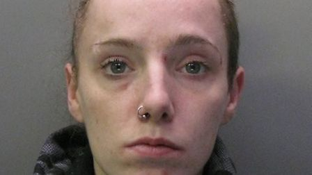 Gemma Francis (pictured) has been jailed for six years after threatening to stab people with a syrin