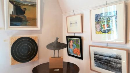 Art work by Christopher Marvell on show at The Old Fire Engine House in Ely until July 8