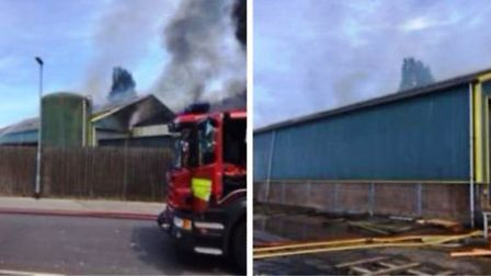Scenes posted by Cambridgeshire fire and rescue of their bid to put out a fire in Wisbech today. It