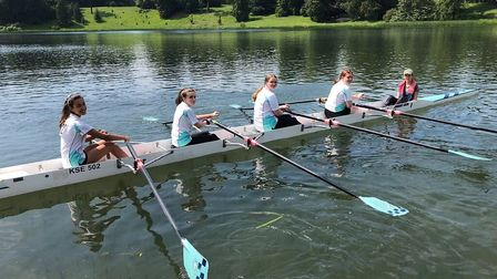 King's Ely rowers won Silver at this year's Blenheim Palace Junior Regatta. Pictures: Submitted
