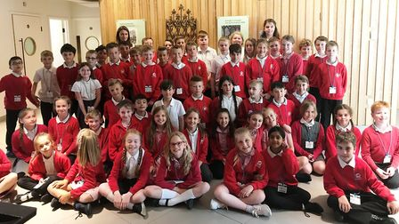 Year 5 pupils from St Andrew's Primary School made a trip to the Parliamentary Education Centre with