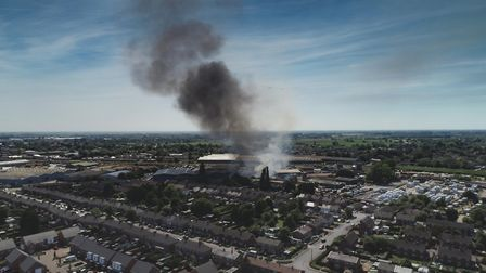 50 firefighters battling fire in Wisbech,Brigstock Road, WisbechSunday 24 June 2018. Picture by Terr